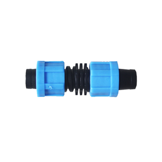 Drip irrigation straight lock coupling for drip tape irrigation