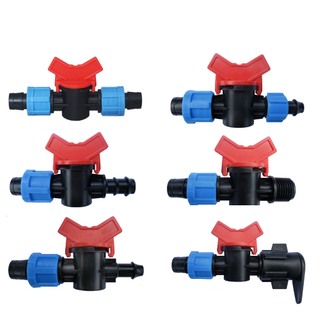 Plastic Irrigation Tape Connector Valve Female Thread Valve for DripTape